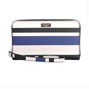 <SALE! NEW Kate Spade Alvy Stripe Wallet Wristlet